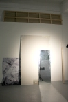 mirror, spotlight, manipulated C-print, dimensions variable