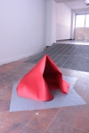 Foam covered with satin fabric, vinyl sheets on floor, dimensions variable, Juan Duque, 2012