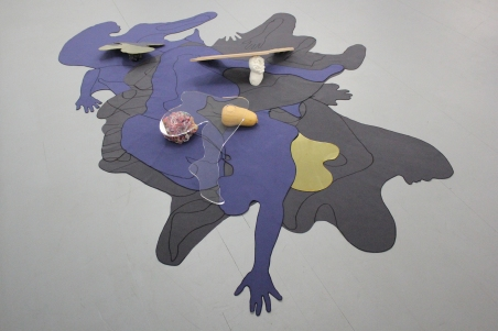 Precedent Shadows, Installation. Mixed media for wall and floor 250 x 180 cm (approx.)